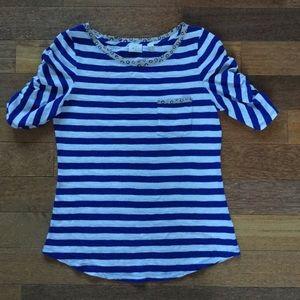 Postmark Blue/White Striped Shirt